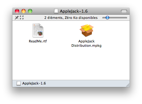Installation d'Applejack