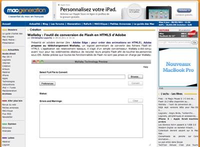 Convertir du Flash en HTML5